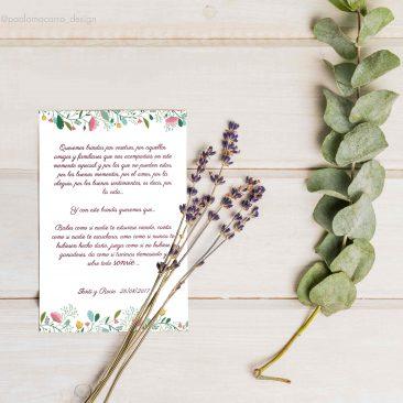 DISEÑO – Tarjeta agradecimiento boda S&R