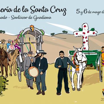 DISEÑO – Cartel Romería Santa Cruz 2018