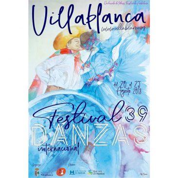 DISEÑO – Cartel 39 Festival de Danzas de Villablanca